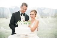 Emma Lea Floral- The Styled Soiree- Maribeth Photography- Buena Vista Colorado Wedding  | Smilax | Greenery | Wedding Cake | Bride & Groom |