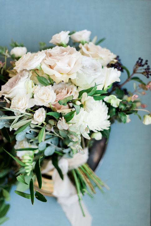 Emma Lea Floral- The Styled Soiree- Decorus Photography- Denver Civic Center Elopement   Rose   Garden Rose   Navy Berry   Blush, Ivory, Lavender   Greenery   Bouquet  