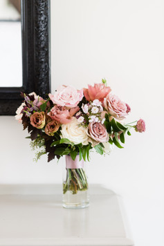 Emma Lea Floral- Candice Benjamin Photography- Denver Colorado Fine Art Floral Design - Luxury Wedding and Event Florist - The Manor House  | Garden Rose | Antique Hydrangea | Lisianthus | Dahlia | Lavender, Antique Purple, Mauve, Pink, Blush | Bridal Bouquet |