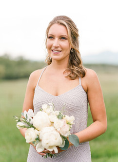 Emma Lea Floral- Purple Summer Events- Lisa O'dwyer Photography- Boulder Private Estate Colorado Wedding  | White and Lavender | Peony | Garden Rose | Clematis | Scabiosa |  Bridesmaid Bouquet |