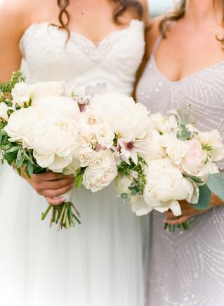 Emma Lea Floral- Purple Summer Events- Lisa O'dwyer Photography- Boulder Private Estate Colorado Wedding | Bridal Bouquet | White and Lavender | Peony | Garden Rose | Clematis | Scabiosa |  Bridesmaid Bouquet |