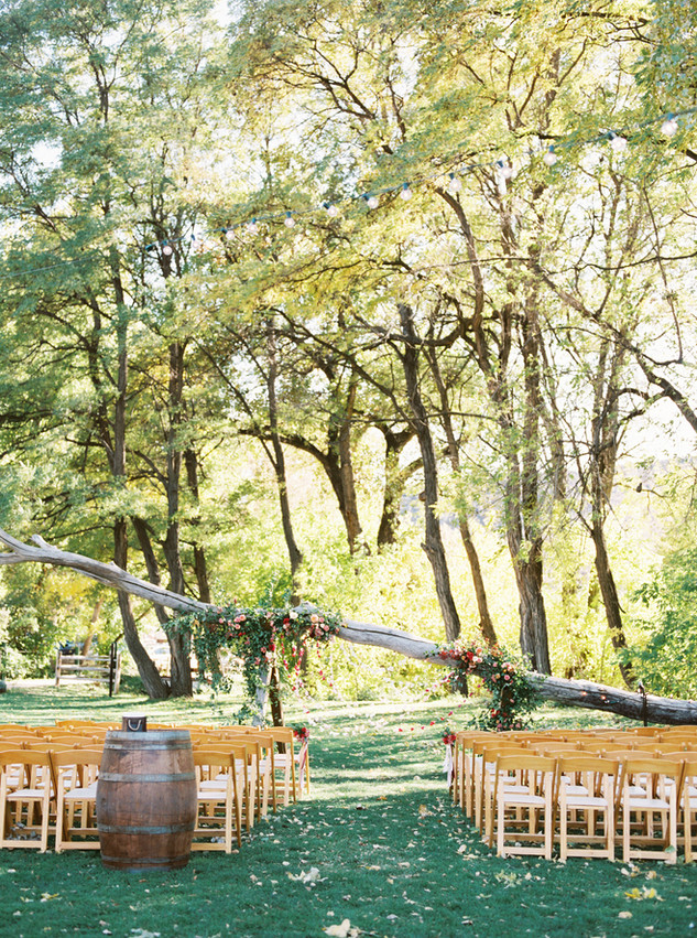 Emma Lea Floral- Purple Summer Events- Tara Bielecki Photography- Lyons Farmette Colorado Wedding  | Ceremony Backdrop | Colorful Greenery and Floral Installation | Outdoor Wedding |