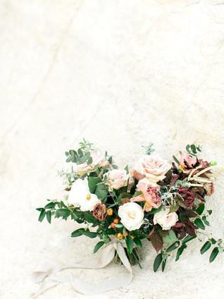 Emma Lea Floral- Avenue One Photography- KLP Video Productions- Colorado Paint Mines Elopement | Denver Colorado Fine Art Floral Design - Wedding and Event Florist | Bridal Bouquet | Garden Rose | Chocolate Cosmo | Eucaluptus | Acacia | Mauve, Blush, Burgundy, Slate Blue | Bride & Groom |