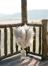Denver Colorado Fine Art Floral Design - Wedding and Event Florist | Ceremony Flowers | Pampas Grass  Arrangement |