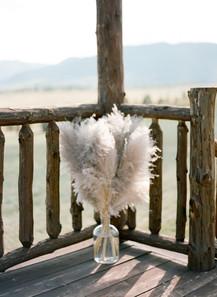 Denver Colorado Fine Art Floral Design - Wedding and Event Florist | Ceremony Flowers | Pampas Grass  Arrangement |