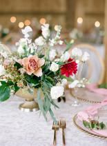 Emma Lea Floral- Purple Summer Events- Cassidy Brooke Photography- Devils Thumb Ranch - Brooke & Jim |Colorado Wedding | Winter Wedding | Garden Rose | Rose | Dahlia | Greenery | Floral Chandelier | Burgundy, pink, mauve, navy, white, ivory |