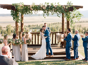 Emma Lea Floral - Cassidy Brooke Photography- Spruce Mountain Ranch Wedding Denver Colorado Fine Art Floral Design - Wedding and Event Florist | Ceremony Arch - Pergola Greenery and Florals | Eucalyptus | Garden Roses | Bohemian | Garden Style | Lush, Natural Floral Design | Bride & Groom |