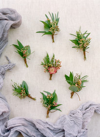 Emma Lea Floral - Cassidy Brooke Photography- Spruce Mountain Ranch Wedding - Denver Colorado Fine Art Floral Design - Wedding and Event Florist | Boutonnieres | Greenery |   Seeded Eucalyptus | Flatlay | Wedding Inspiration |
