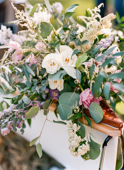 Emma Lea Floral- Purple Summer Events- Lisa O'dwyer Photography- Boulder Private Estate Colorado Wedding  | Cocktail Hour | Canoe Flowers | Eucalyptus | White and Lavender |