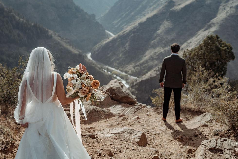 Backyard wedding and Epic Rocky Mountain Views