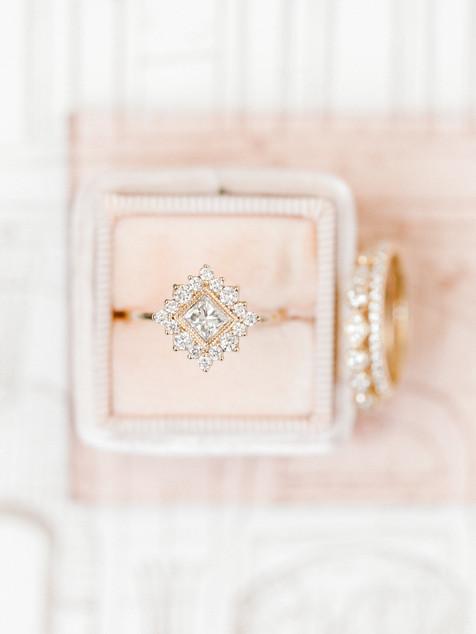 Emma Lea Floral- Sara Brown Weddings- Sara Lynn Photography- Stefanie Hofmeister Lettering & Design- Wildflower Cakes - Hotel Teatro | Denver Colorado Fine Art Floral Design - Wedding and Event Florist | Modern Minimal | Modern Florals | Blush | Mrs. Box | Engagement Ring |  Couture Colorado |