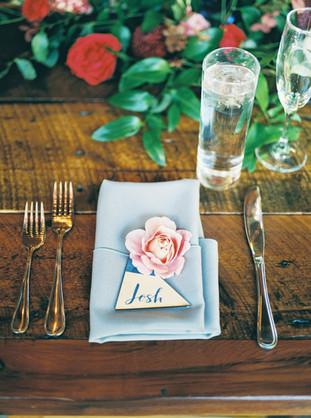 Emma Lea Floral- Purple Summer Events- Tara Bielecki Photography- Lyons Farmette Colorado Wedding  | Perfect Place Setting | Distant Drum Garden Rose |