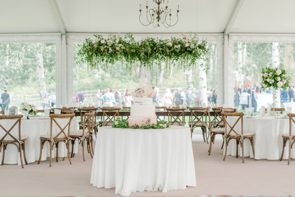 Andrea & Michael Wedding - Emma Lea Floral- Purple Summer Events- One Sweet Photo- Flying Diamond Ranch - Steamboat Wedding - Denver Colorado Fine Art Floral Design - Luxury Wedding and Event Florist - Anemone | Rose  | Lisianthus | White, Ivory, Blush | Mountain Wedding | Organic |