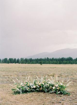Jessica & Thomas Wedding - Emma Lea Floral- The Styled Soiree- Carrie King Photography- Buena Vista - Denver Colorado Fine Art Floral Design - Luxury Wedding and Event Florist - Delphinium | Peony  | Garden Rose | Mock Orange | Grasses | Tulip | Celedon, Peach, Gold, Cream, Blush, Ivory | Mountain Wedding |