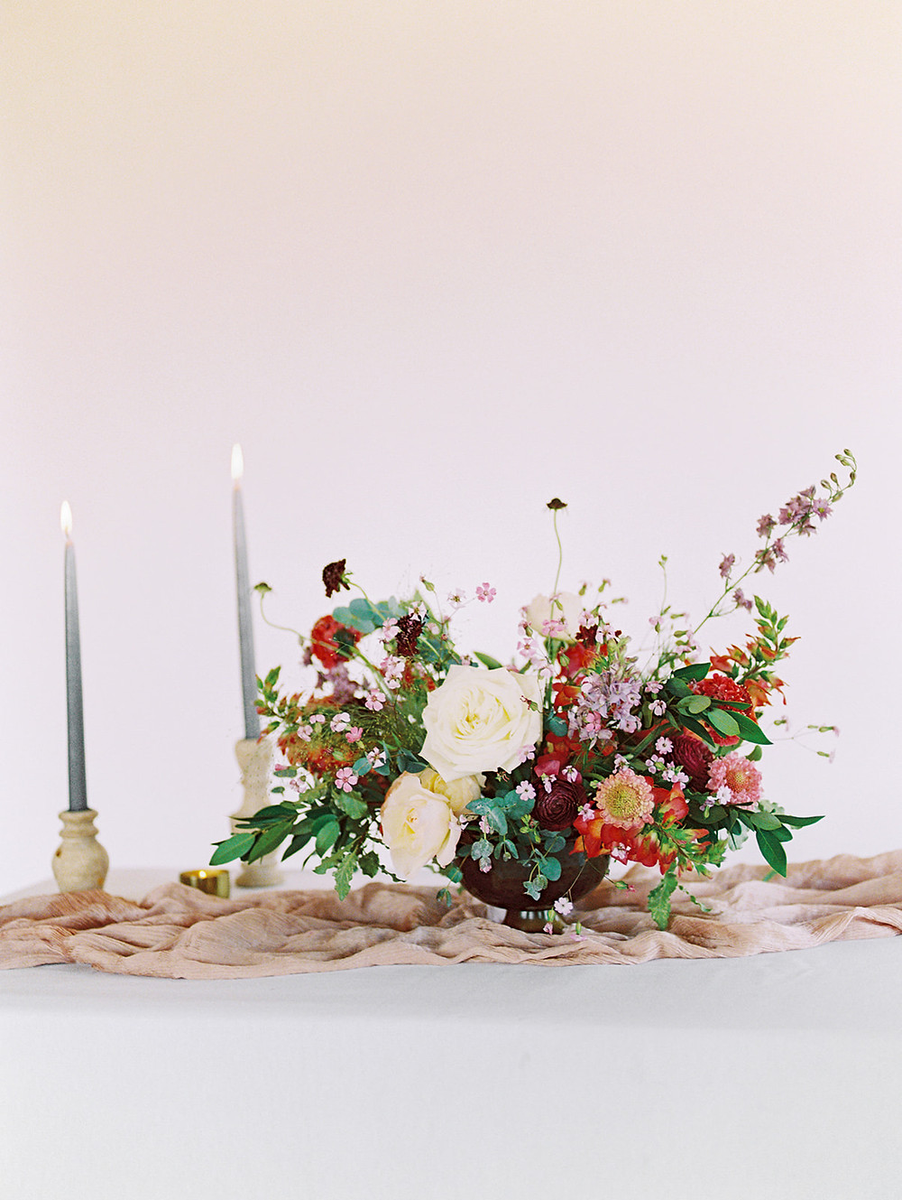Emma Lea Floral - A La Carte Shop - Online Order Wedding Flowers - Tara Bielecki Photography - Affordable, Simplified, Beautiful Arrangements - Footed Centerpiece - Berries & Cream