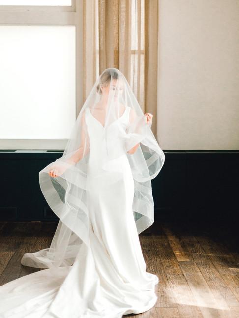 Emma Lea Floral- Sara Brown Weddings- Sara Lynn Photography- Stefanie Hofmeister Lettering & Design- Hotel Teatro | Denver Colorado Fine Art Floral Design - Wedding and Event Florist | Modern Minimal | Wedding Dress | Veil | Headpiece |  Couture Colorado |