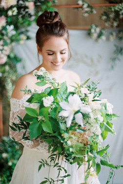 Emma Lea Floral- The Styled Soiree- Sara Lynn Photography- Cherokee Ranch And Castle Wedding | Denver Colorado Fine Art Floral Design - Wedding and Event Florist | Bridal Bouquet | Clematis | Garden Rose | Jasmine | Garden Style