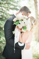 Emma Lea Floral- The Styled Soiree- Maribeth Photography- Buena Vista Colorado Wedding  | Bride & Groom | Bridal Bouquet | White, blush, mauve | Peony | Garden Rose | Clematis | Spray Rose |