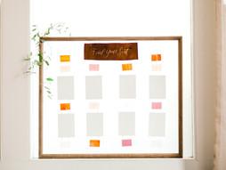 Emma Lea Floral- Sara Brown Weddings- Sara Lynn Photography- Stefanie Hofmeister Lettering & Design- Hotel Teatro | Denver Colorado Fine Art Floral Design - Wedding and Event Florist | Seating Display | Modern Caligraphy | Seating Chart | Couture Colorado |