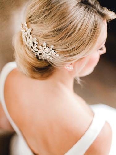 Emma Lea Floral- Sara Brown Weddings- Sara Lynn Photography- Stefanie Hofmeister Lettering & Design- Hotel Teatro | Denver Colorado Fine Art Floral Design - Wedding and Event Florist | Modern Minimal | Wedding Dress  | Headpiece | Couture Colorado |