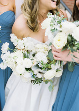 Sawncy + Luke - Denver Colorado Fine Art Floral Design - Luxury Wedding and Event Florist - Emma Lea Floral- Banks and Leaf - Mckenzie Coyle Photography - The Cable Center  | Garden Rose | Eucalyptus | lunaria | Tweedia | Ranunculus | Green, White, blue |