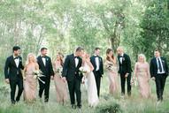 Emma Lea Floral- The Styled Soiree- Maribeth Photography- Buena Vista Colorado Wedding   | Bridal Party | Bridesmaid Bouquet | Bridal Bouquet | White, Blush, Mauve | Peony | Garden Rose | Spray Rose | Clematis | Groom | Groomsman |