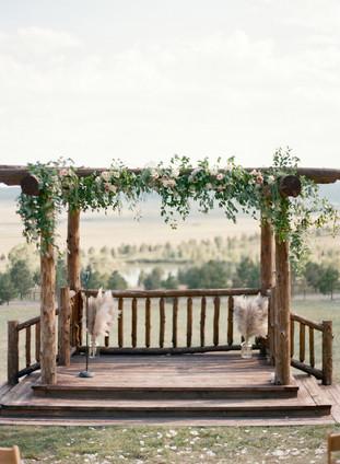 Denver Colorado Fine Art Floral Design - Wedding and Event Florist | Ceremony Arch - Pergola Greenery and Florals | Eucalyptus | Garden Roses | Bohemian | Garden Style | Lush, Natural Floral Design |