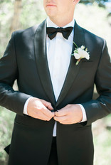 Emma Lea Floral- The Styled Soiree- Maribeth Photography- Buena Vista Colorado Wedding  | Groom | Boutonniere | Tuxedo |