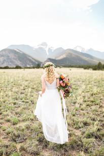 Emma Lea Floral- Sarah Jayne Photography- Mt. Princeton Colorado Wedding | Peony | Ranunculus | Tulip | Foxglove | Clematis | Pink, Purple, Peach, Burgundy | Bridal Bouquet | Mountain Wedding |