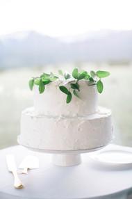 Emma Lea Floral- The Styled Soiree- Maribeth Photography- Buena Vista Colorado Wedding  | Smilax | Greenery | Wedding Cake |