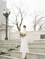 Emma Lea Floral- The Styled Soiree- Decorus Photography- Denver Civic Center Elopement   Rose   Garden Rose   Navy Berry   Blush, Ivory, Lavender   Greenery   Bouquet   Bride   Groom  