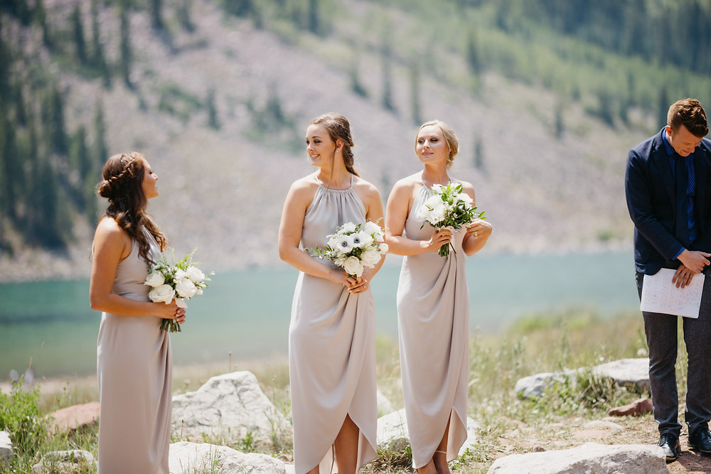 Mallory & David Aspen Elopement - Emma Lea Floral- Our Two Hearts Photography - Maroon Bells - Aspen Wedding - Denver Colorado Fine Art Floral Design - Luxury Wedding and Event Florist - Anemone | Rose  | Astrantia | Hops | Jasmine | White, Ivory, Navy | Mountain Wedding | Organic | Bridal Party |