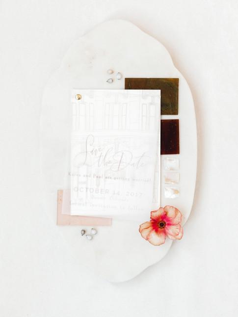 Emma Lea Floral- Sara Brown Weddings- Sara Lynn Photography- Stefanie Hofmeister Lettering & Design- Hotel Teatro | Denver Colorado Fine Art Floral Design - Wedding and Event Florist | Ranunculus | Paper Goods | Wedding Invitation | Flatlay|  Couture Colorado |