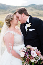 Emma Lea Floral- Candice Benjamin Photography- Denver Colorado Fine Art Floral Design - Luxury Wedding and Event Florist - The Manor House  | Garden Rose | Antique Hydrangea | Lisianthus | Dahlia | Lavender, Antique Purple, Mauve, Pink, Blush | Bridal Bouquet | Groom | Boutonniere |