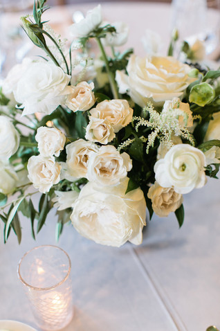 Emma Lea Floral- Purple Summer Events- Callie Hobbs Photography- Devils Thumb Ranch Colorado Wedding  | Greenery | White | Blush | Floral Centerpiece | Ranunculus | Garden Rose | Olive | Spray Rose