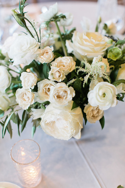 Emma Lea Floral- Purple Summer Events- Callie Hobbs Photography- Devils Thumb Ranch Colorado Wedding  | Greenery | White | Blush | Floral Centerpiece | Ranunculus | Garden Rose | Olive | Spray Rose
