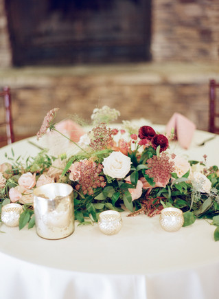 Emma Lea Floral - Cassidy Brooke Photography- Spruce Mountain Ranch Wedding - Denver Colorado Fine Art Floral Design - Wedding and Event Florist | Sweetheard Table Floral Arrangement | Garden Rose | Ranunculus | Chocolate Lace | Dahlia | Candles | Mauve | White | Burgundy | Blush |