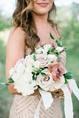 Emma Lea Floral- The Styled Soiree- Maribeth Photography- Buena Vista Colorado Wedding-Denver Colorado Fine Art Floral Design - Wedding and Event Florist  | Bridal Party | Bridesmaid Bouquet | White, Blush, Mauve | Peony | Garden Rose | Spray Rose | Clematis |