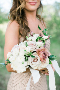 Emma Lea Floral- The Styled Soiree- Maribeth Photography- Buena Vista Colorado Wedding-Denver Colorado Fine Art Floral Design - Wedding and Event Florist  | Bridal Party | Bridesmaid Bouquet | White, Blush, Mauve | Peony | Garden Rose | Spray Rose | Clematis |