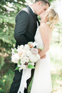 Emma Lea Floral- The Styled Soiree- Maribeth Photography- Buena Vista Colorado Wedding  | Bride & Groom | Bridal Bouquet | White, blush, mauve | Peony | Garden Rose | Clematis | Spray Rose |