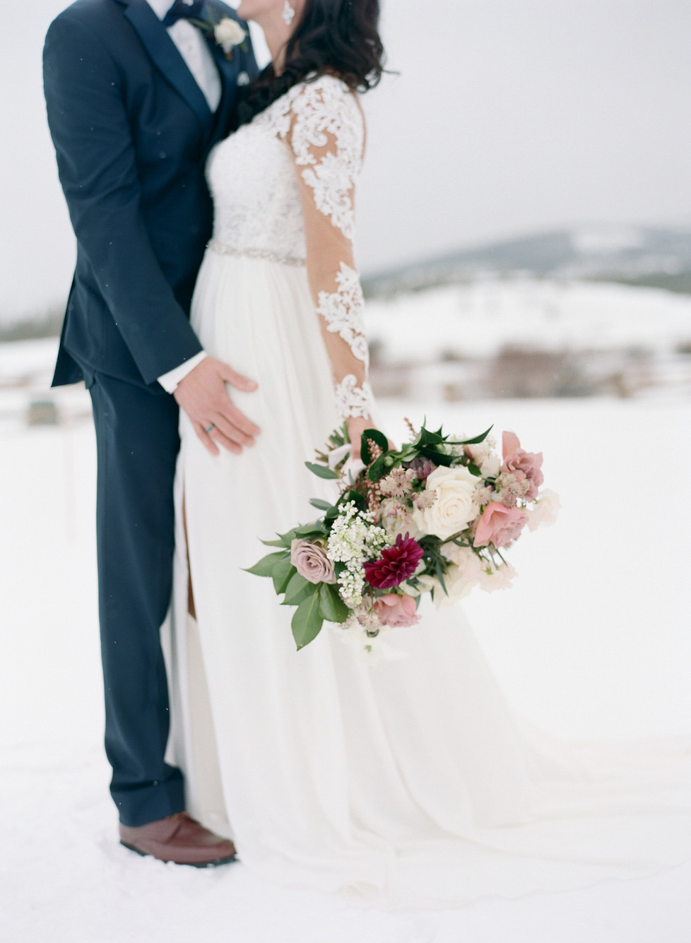 Devils Thumb Ranch- Winter Wedding Perfection - Purple Summer Events- Cassidy Brooke Photography