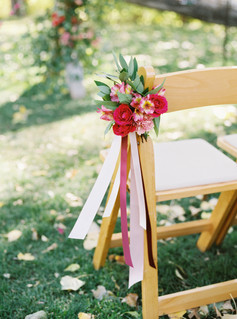 Emma Lea Floral- Purple Summer Events- Tara Bielecki Photography- Lyons Farmette Colorado Wedding  | Colorful Chair Bouquet |