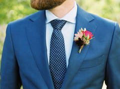 Emma Lea Floral- Purple Summer Events- Tara Bielecki Photography- Lyons Farmette Colorado Wedding  | Navy Suit | Boutonniere | Pink & Burgundy |
