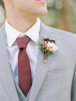 Emma Lea Floral - Connie Whitlock- Della Terra Wedding- Colorado  | Mountain Wedding | Boutonniere | Burgundy | Pepperberry | Groom |