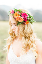Emma Lea Floral- Sarah Jayne Photography- Mt. Princeton Colorado Wedding | Peony | Ranunculus | Tulip | Foxglove | Clematis | Pink, Purple, Peach, Burgundy |  Mountain Wedding |  Flower Crown |