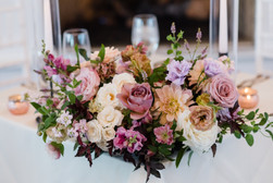 Emma Lea Floral- Candice Benjamin Photography- Denver Colorado Fine Art Floral Design - Luxury Wedding and Event Florist - The Manor House  | Garden Rose | Antique Hydrangea | Lisianthus | Dahlia | Lavender, Antique Purple, Mauve, Pink, Blush | Fireplace Floral Installation | Organic Mantle Arrangement | Sweetheart Table | Taper Candles | Lush Floral Centerpiece |