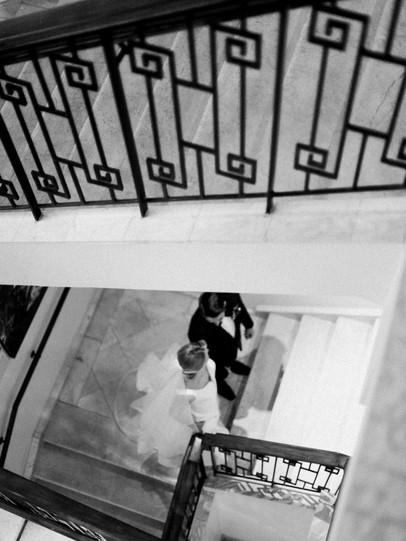 Emma Lea Floral- Sara Brown Weddings- Sara Lynn Photography- Stefanie Hofmeister Lettering & Design- Wildflower Cakes - Hotel Teatro | Denver Colorado Fine Art Floral Design - Wedding and Event Florist | Modern Minimal | Wedding Dress  | Modern Florals | Bride | Groom | Black & White |  Couture Colorado |