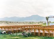 Emma Lea Floral- Purple Summer Events- Lisa O'dwyer Photography- Boulder Private Estate Colorado Wedding | Ceremony Flowers | Aisle Petals | Aisle Arrangements | Arch Flowers | White and Lavender | Eucalyptus |