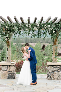 Emma Lea Floral- Purple Summer Events- Callie Hobbs Photography- Devils Thumb Ranch Colorado Wedding Denver Colorado Fine Art Floral Design - Wedding and Event Florist- Emma Lea Floral- Devils Thumb Wedding  | Ceremony Pergola Flowers | Greenery | White Flowers | Roses | Spray Roses | Bride & Groom | I Do |