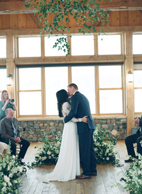 Emma Lea Floral- Purple Summer Events- Cassidy Brooke Photography- Devils Thumb Ranch - Brooke & Jim |Colorado Wedding | Winter Wedding | Garden Rose | Rose | Dahlia | Greenery | Floral Chandelier | Burgundy, pink, mauve, navy, white, ivory |